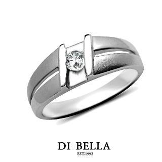 【DI BELLA】璀燦星空真鑽情人戒指(男款)
