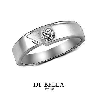 【DI BELLA】幸福頻率真鑽情人戒指(男款)