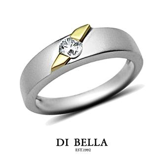【DI BELLA】HONEY DIAMOND 真鑽情人戒指(男款)