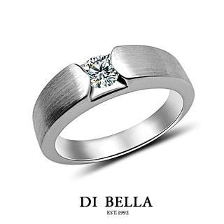 【DI BELLA】愛情印記真鑽情人戒指(男款)