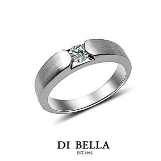 【DI BELLA】愛情印記真鑽情人戒指(女款)