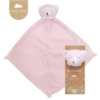 【美國 Angel Dear】動物嬰兒安撫巾(粉紅熊熊)