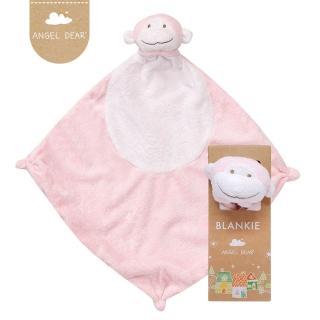 【美國 Angel Dear】動物嬰兒安撫巾(粉紅小猴)