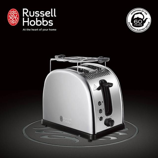 【Russell Hobbs 英國羅素】Legacy 晶亮烤麵包機(21290TW-晶亮銀)