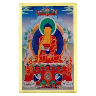 【十相自在】銅箔隨身護身卡-白輪(釋加牟尼佛)