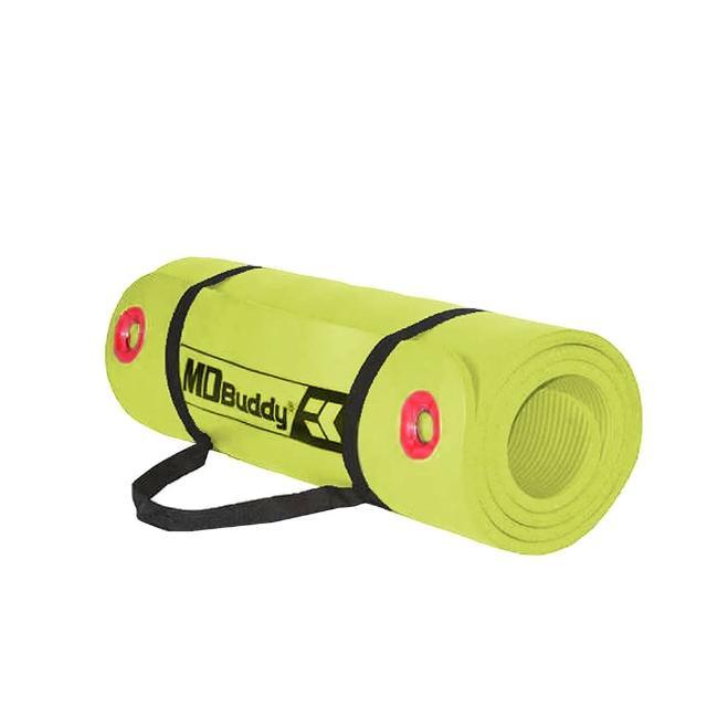 【MDBuddy】NBR紅色扣環瑜珈墊-有氧 塑身 地墊 1CM 出貨(隨機)