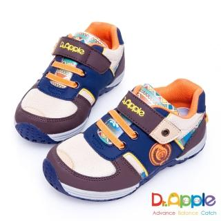 【Dr. Apple 機能童鞋】印第安圖騰復古拉風童鞋(咖)