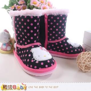 【魔法Baby】女童雪靴 Hello kitty授權正版長筒靴(sh8800)