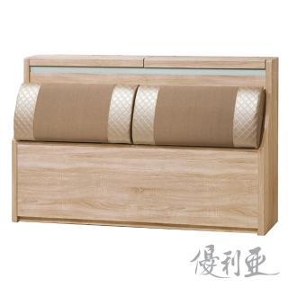 【優利亞-和風美學】雙人5尺床頭箱(2色)