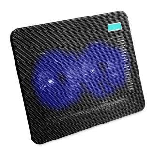 【逸奇e-Kit】11cm雙風扇超薄筆電散熱墊-黑(CKT-N192_BK)