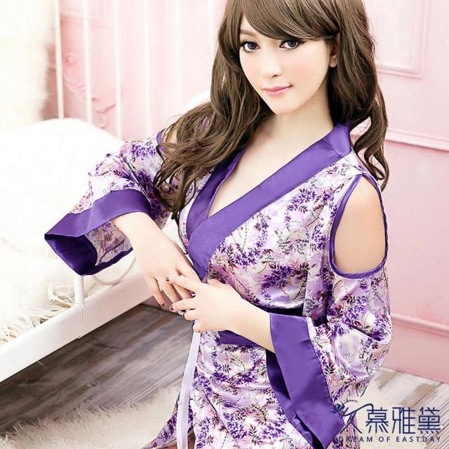 【久慕雅黛】紫色柔情華麗和服角色扮演服