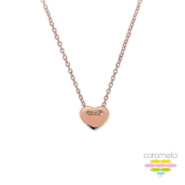 【彩糖鑽工坊】925純銀鍍玫瑰金 愛心項鍊(桃樂絲 Doris系列)