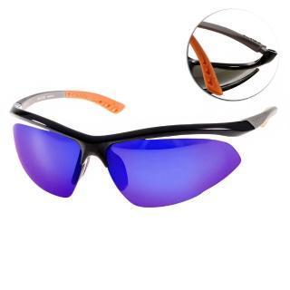 【OUT DO太陽眼鏡】運動時尚水銀鏡面(黑-橘#TR367 NX1)