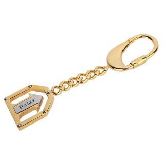 【BALLY】經典LOGO箭頭造形鑰匙圈吊飾(金色)