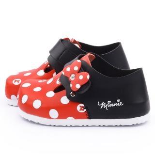 【童鞋城堡】迪士尼 中小童 米妮輕量軟木風格包鞋(453706-紅)