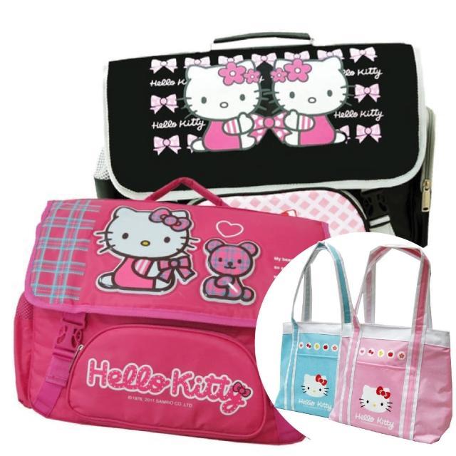 【Hello Kitty 凱蒂貓】(1+1)橫式書背包+保溫保冷袋(KT3049三款 3902)