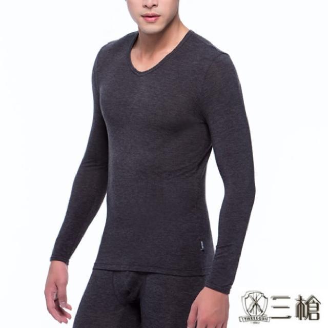 【三槍牌】時尚經典型男圓領Q-HEAT超彈性長袖發熱衣2件組(4色 M-XL)