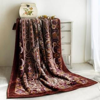 【大阪寢屋川】《米亞皇宮-紅》日製雙層單人毯(140*200CM)