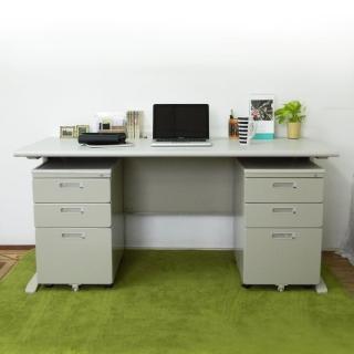 【時尚屋】CD160灰色辦公桌櫃組(Y700-10+Y702-19)
