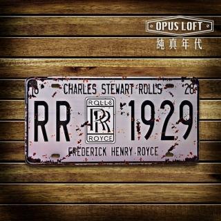 ~OPUS LOFT純真年代~仿舊鐵皮車牌 壁飾 壁貼 勞斯萊斯TP~014
