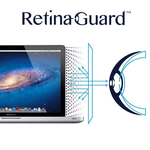 【RetinaGuard 視網盾】Macbook Pro 15吋 防藍光保護膜(適用 2008 - 2012.06 機型)