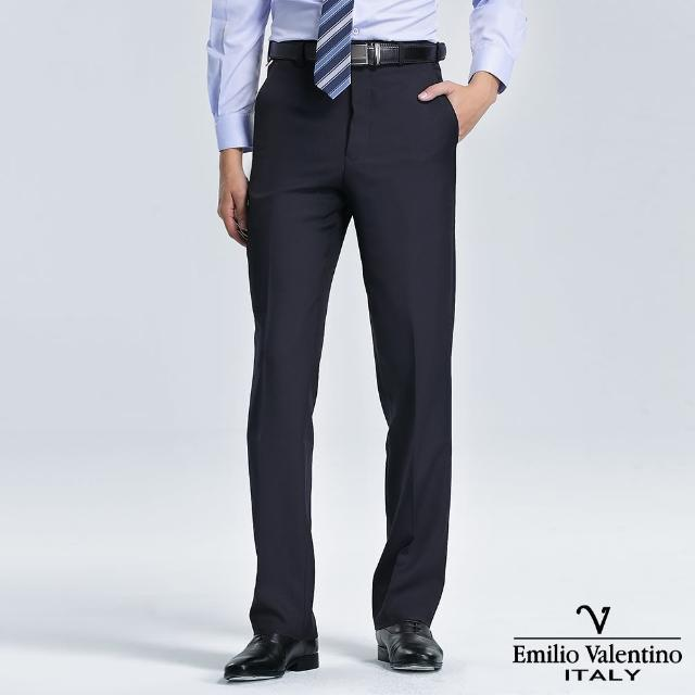 【Emilio Valentino 范倫提諾】高級平面西褲(丈青)