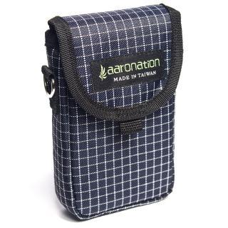 【aaronation 愛倫國度】前掀式單口袋隨身包 台灣製造(AN-98713-藍白)