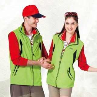 【SPAR】中性款單面穿背心螢光綠色(SP7621A)