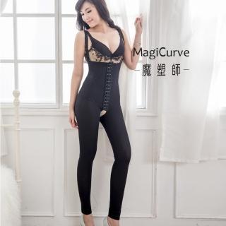 【魔塑師九分長拉鏈款】P-016纖盈萊卡560雙層束褲/抽脂後束褲(可修改MagiCurve)