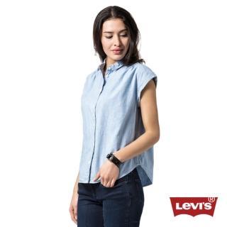 【Levis】女款短袖牛仔襯衫