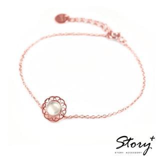 【STORY ACCESSORY】拾露-蕾絲寶石手鍊-玫瑰金款(蕾絲 寶石 手鍊)
