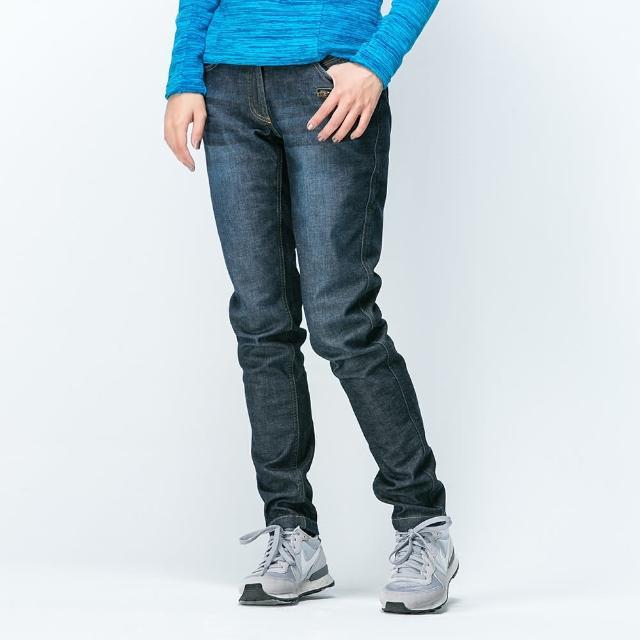 【ATUNAS 歐都納】Soft shell/透氣/保暖/耐磨/刷毛/牛仔/女長褲(A-PA1525W 深藍 XS-XL)