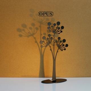【OPUS東齊金工】歐式鐵藝飾品架/金屬首飾座/戒指項鍊架(PI-fl04 蒲公英_經典黑)