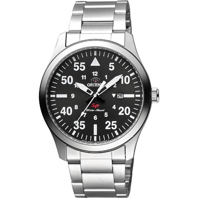 【ORIENT】東方錶 SP 系列 飛行運動石英錶-灰x銀/42mm(FUNG2001B)