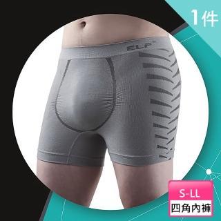 【三合豐 ELF】男性竹炭+銀纖維機能美型四角平口內褲(MIT 灰色)