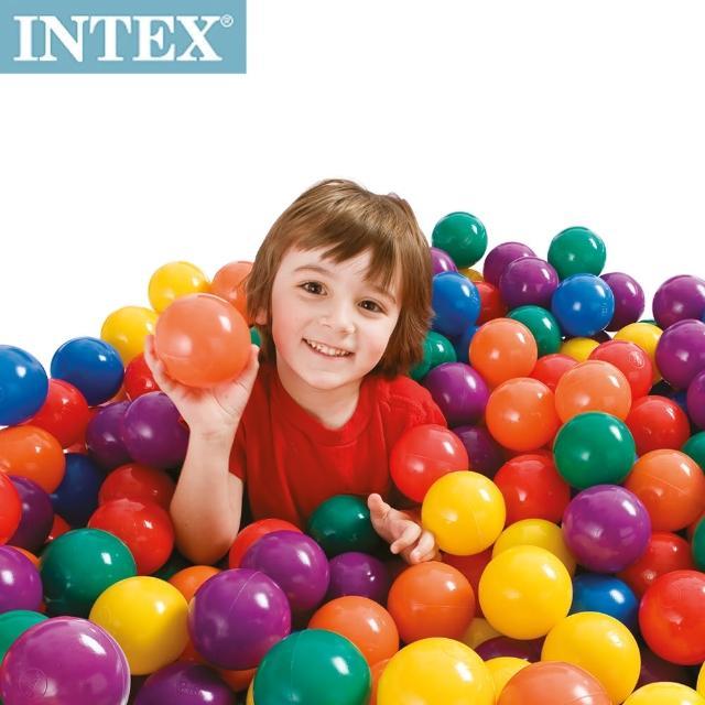 【INTEX】100顆遊戲球-直徑8cm(49600)