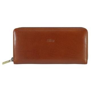 【Sika】義大利時尚真皮拉鍊式長夾(A8236-01原味褐)