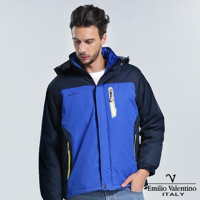 【Emilio Valentino 范倫提諾】鋪棉防風外套(寶藍)