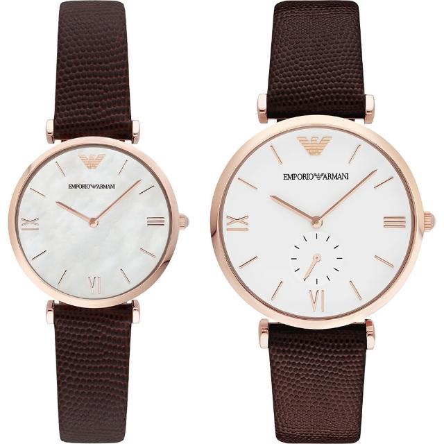 【ARMANI】Armani 義式浪漫情人對錶(AR9042)