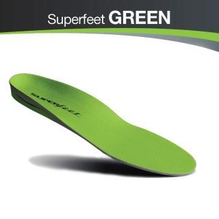 【美國SUPERfeet】健康慢跑登山健行多用途抑菌足弓鞋墊(綠色)