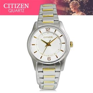 【CITIZEN 日系星辰】送禮首選-時尚石英女錶 不鏽鋼錶帶 礦物玻璃 防水(ER0184-53A)