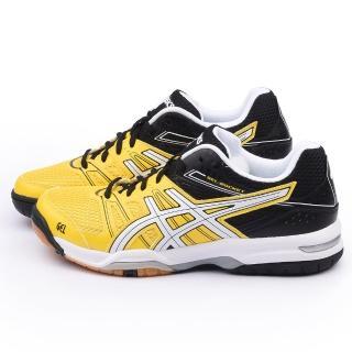 【Asics】男款 GEL-ROCKET 7 排羽球運動鞋(B405Q-0401-黃)
