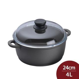 【德國寶迪Berndes】雙耳湯鍋含蓋24cm(寶迪鍋 不沾鍋)