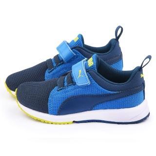 【PUMA】中大童 輕量透氣運動鞋(358908-13-藍)