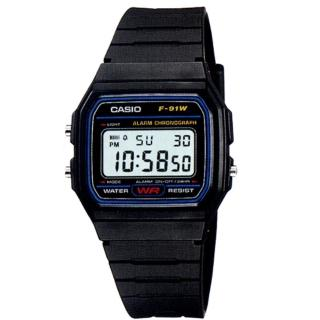 【CASIO】經典運動電子腕錶(F-91W-1A)