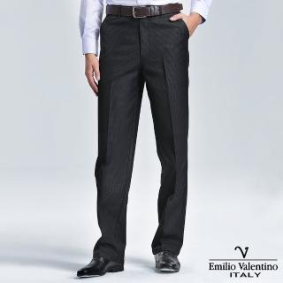 【Emilio Valentino 范倫提諾】仿牛仔休閒褲(細格黑)