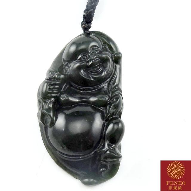 【菲鈮歐】彌勒福財頂級墨玉項鍊(1440)