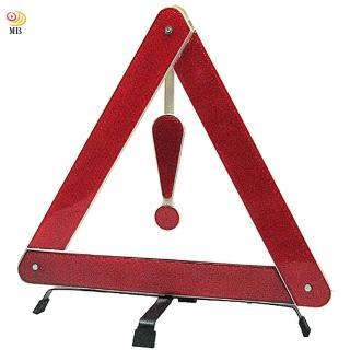 【月陽】可折式驚嘆號汽車故障反光標誌三角架附硬盒AX-3088(反光紅色)