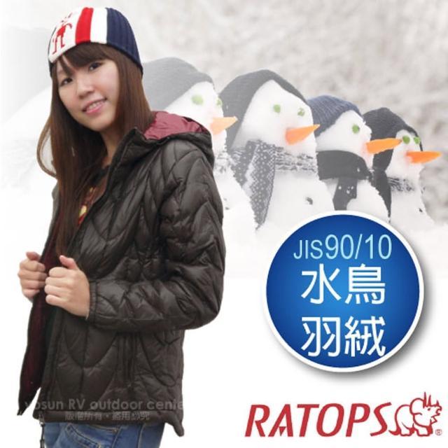 【瑞多仕-RATOPS】女20丹超輕羽絨衣.羽絨外套.保暖外套.雪衣(RAD360 深咖啡色/暗紅色)