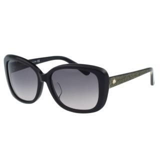 【Kate Spade】-造型方框 太陽眼鏡(黑色)